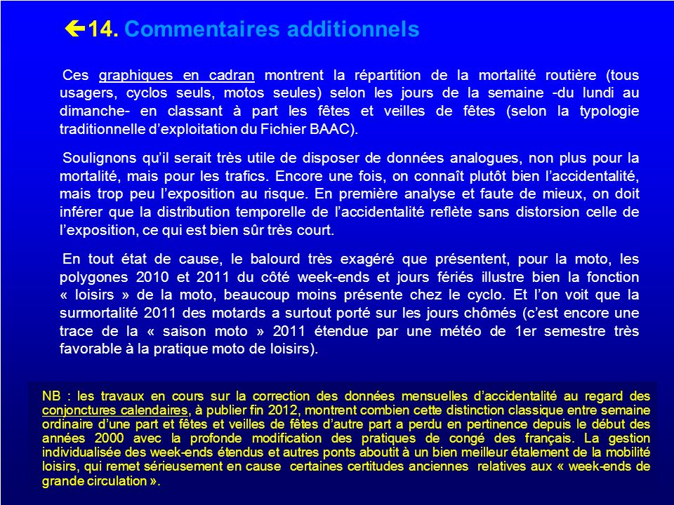 14. Commentaires additionnels