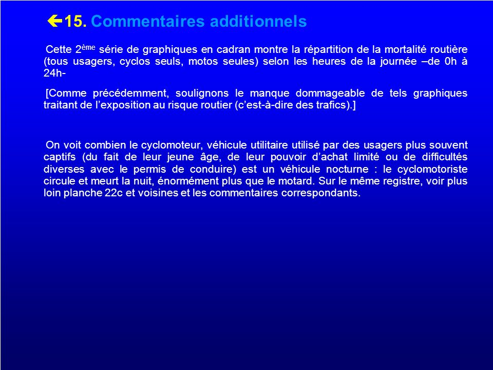 15. Commentaires additionnels