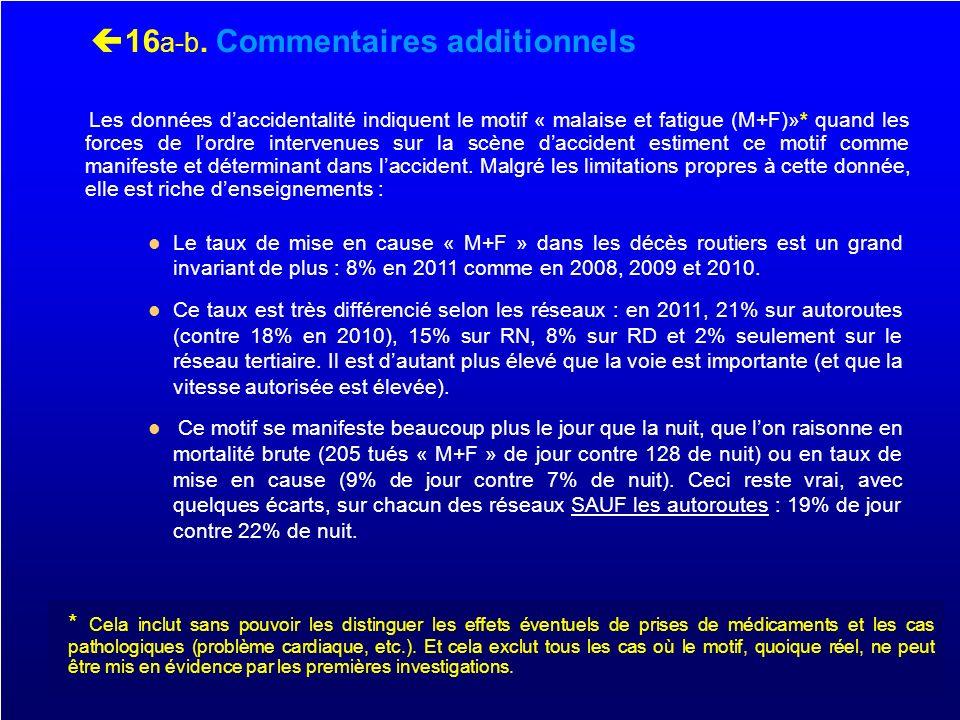 16a-b. Commentaires additionnels
