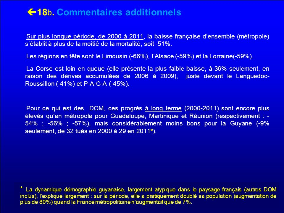 18b. Commentaires additionnels
