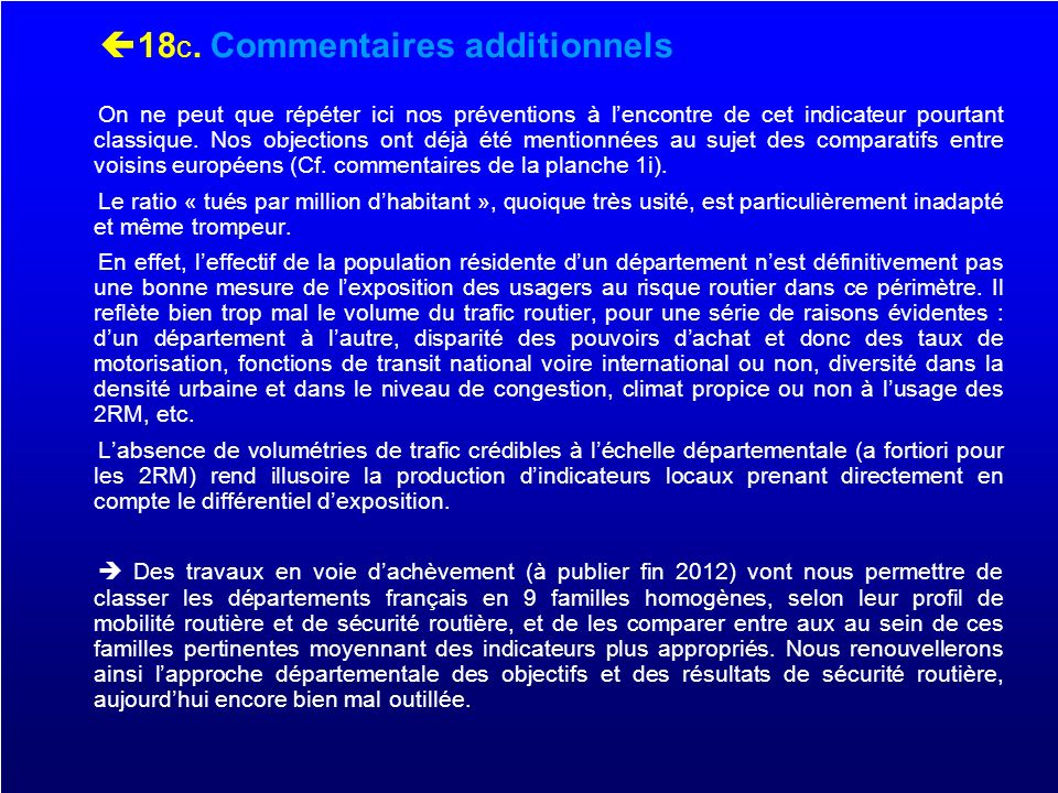 18c. Commentaires additionnels