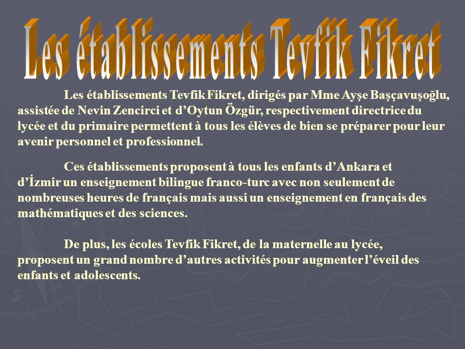 Les établissements Tevfik Fikret