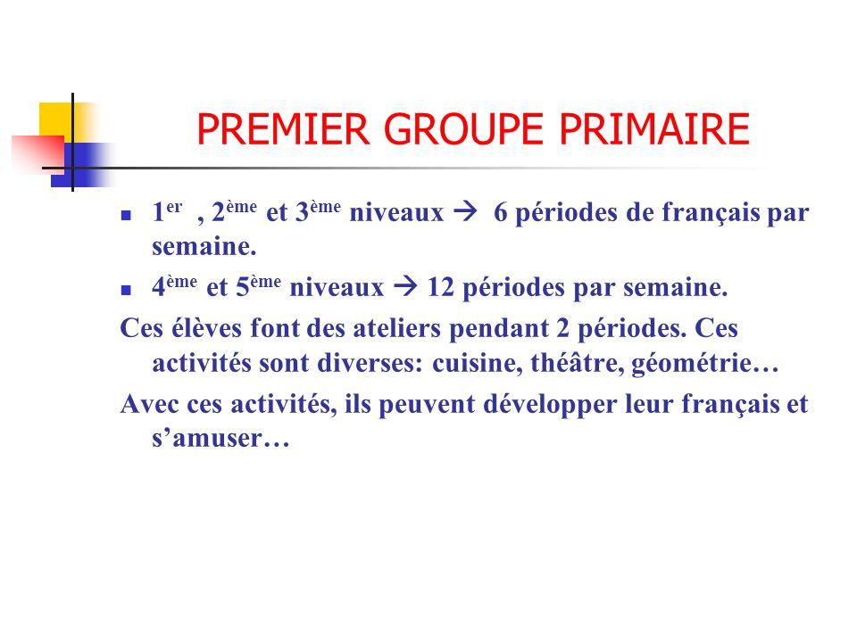 PREMIER GROUPE PRIMAIRE
