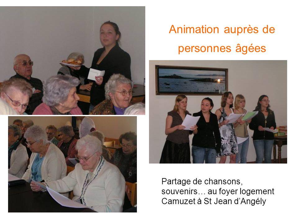 Animation auprès de personnes âgées