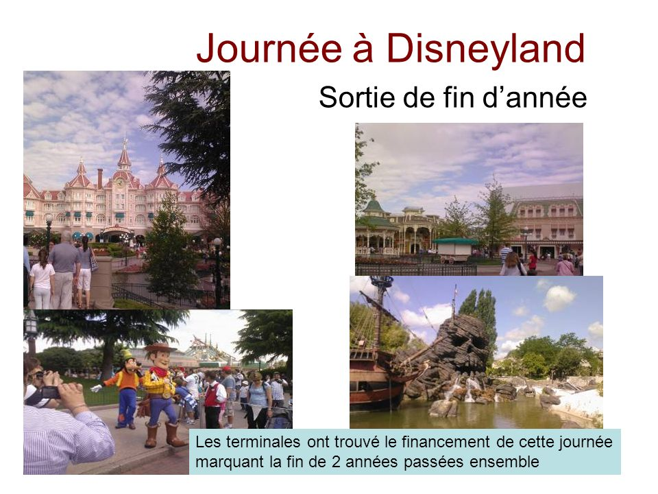 Journée à Disneyland Sortie de fin d'année