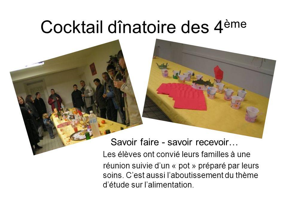 Cocktail dînatoire des 4ème
