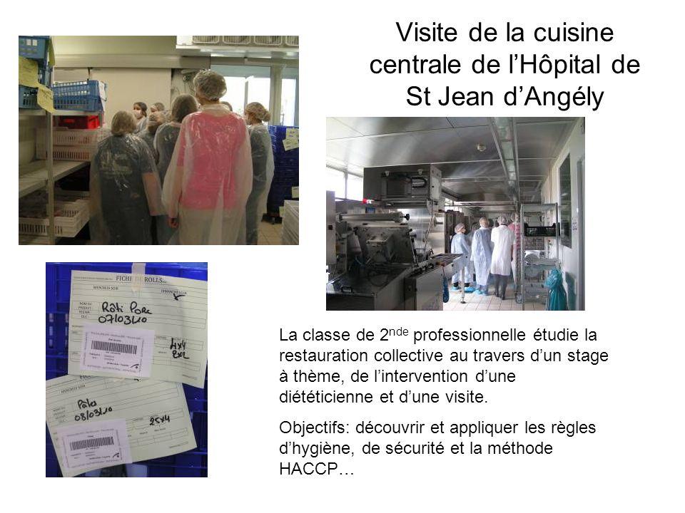 Visite de la cuisine centrale de l'Hôpital de St Jean d'Angély