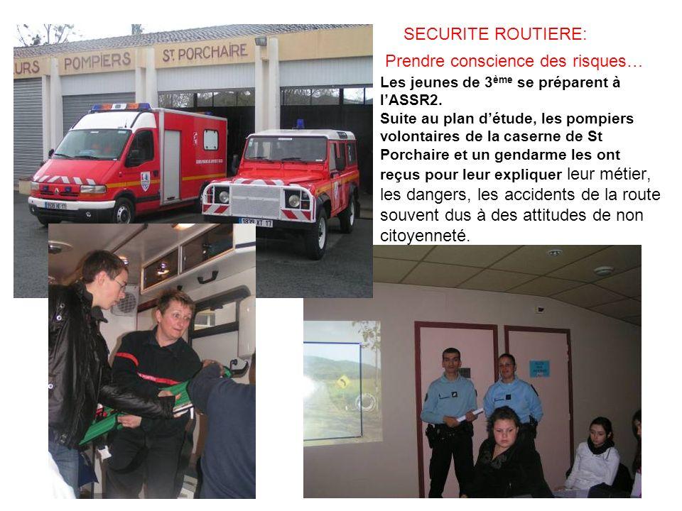 SECURITE ROUTIERE: Prendre conscience des risques… Les jeunes de 3ème se préparent à l'ASSR2.