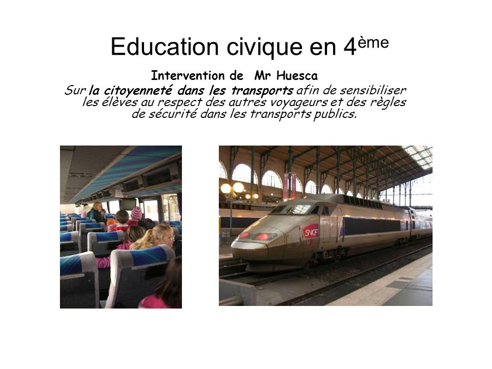 Education civique en 4ème