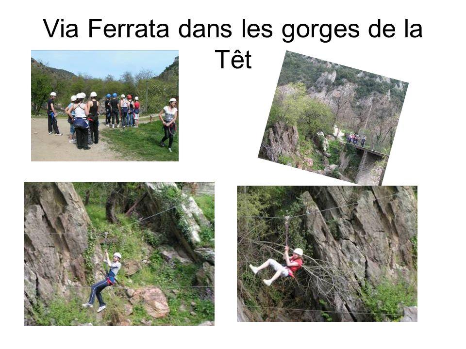 Via Ferrata dans les gorges de la Têt