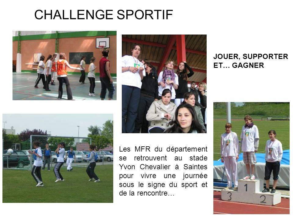 CHALLENGE SPORTIF JOUER, SUPPORTER ET… GAGNER