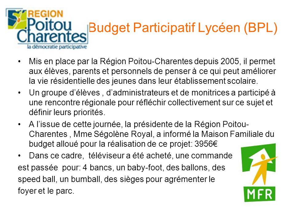 Budget Participatif Lycéen (BPL)