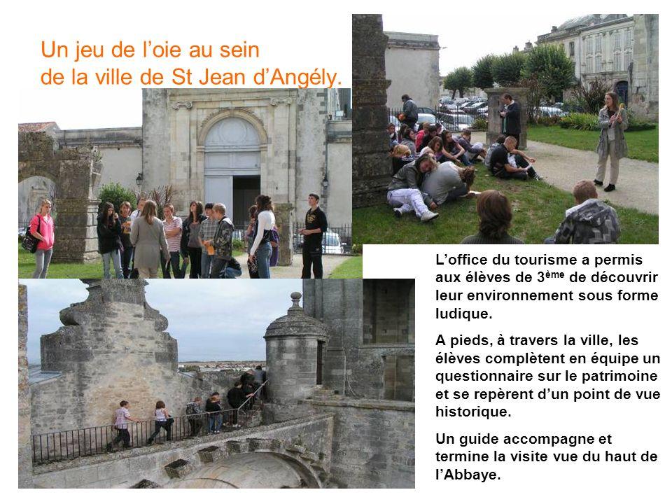 Un jeu de l'oie au sein de la ville de St Jean d'Angély.