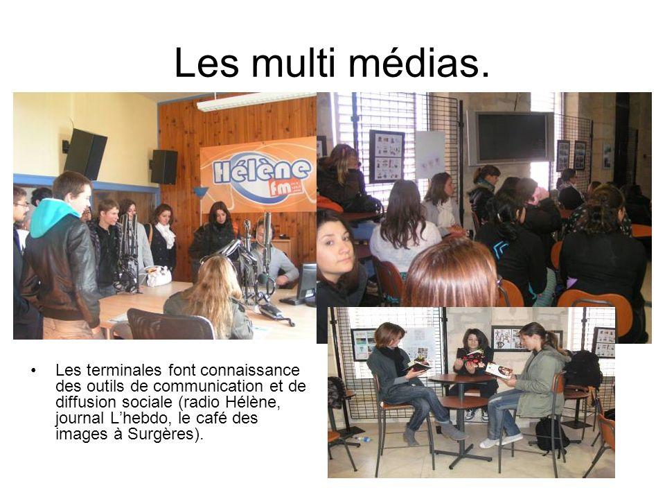 Les multi médias.