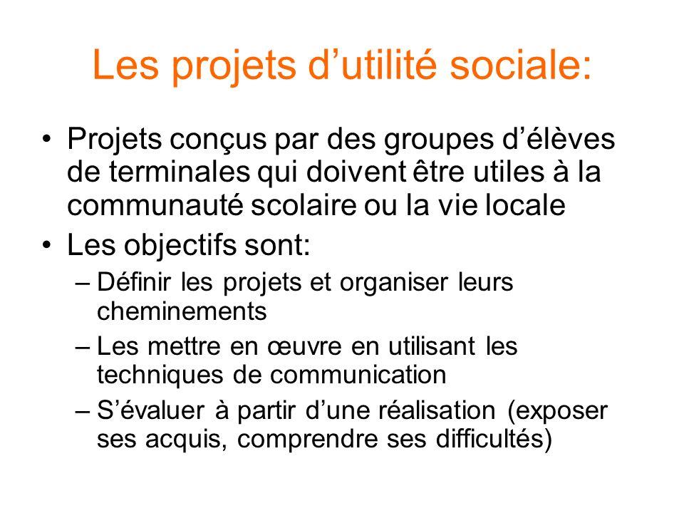 Les projets d'utilité sociale: