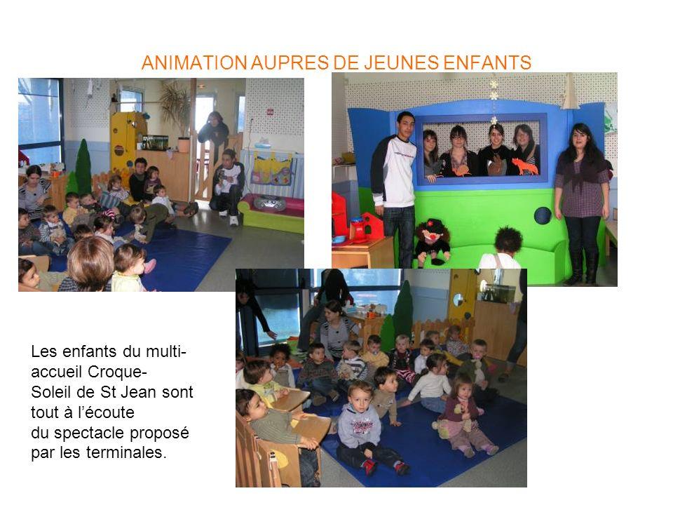 ANIMATION AUPRES DE JEUNES ENFANTS