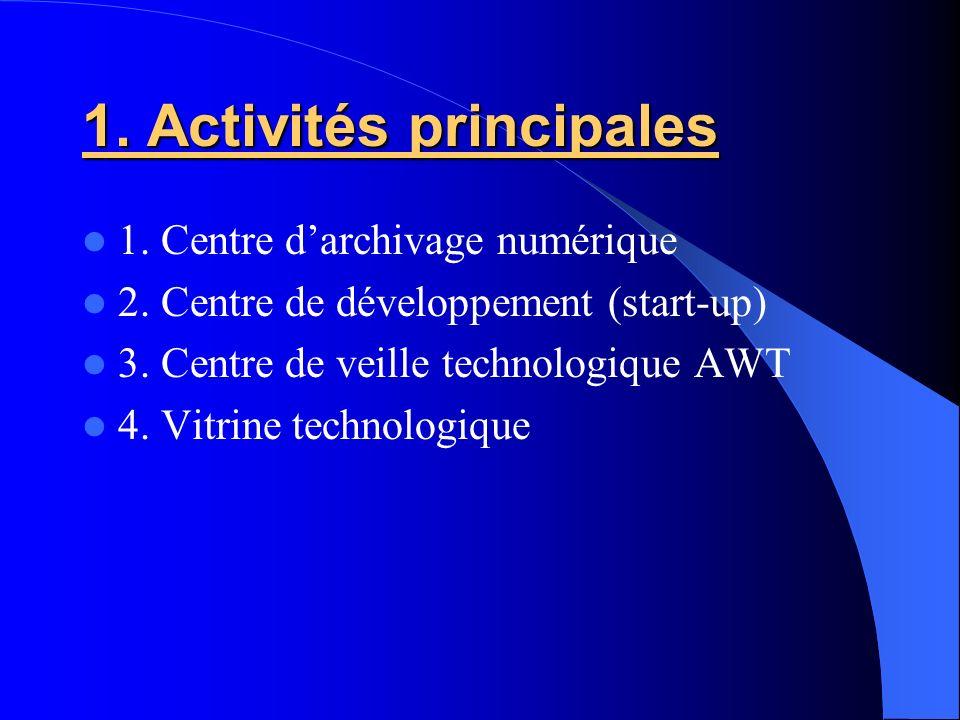 1. Activités principales