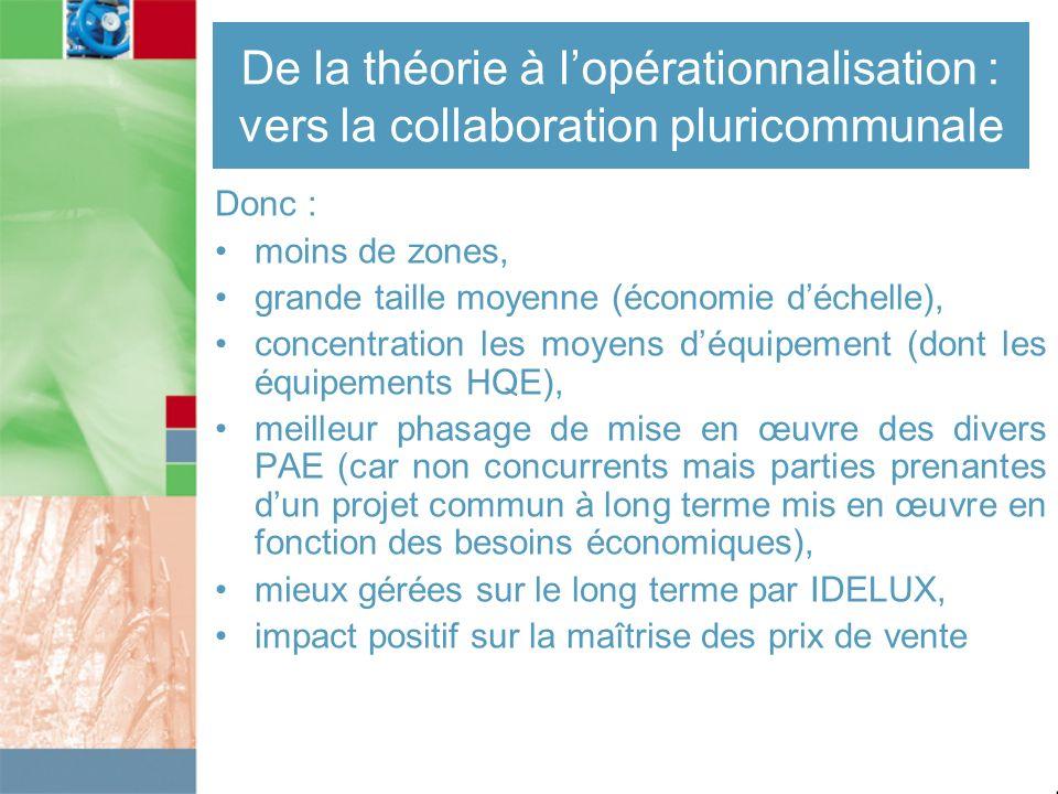 De la théorie à l'opérationnalisation : vers la collaboration pluricommunale