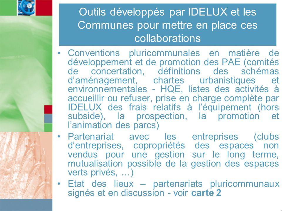 Outils développés par IDELUX et les Communes pour mettre en place ces collaborations