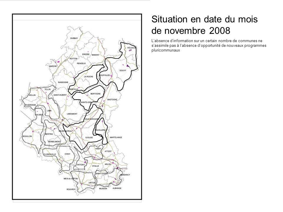 Situation en date du mois de novembre 2008