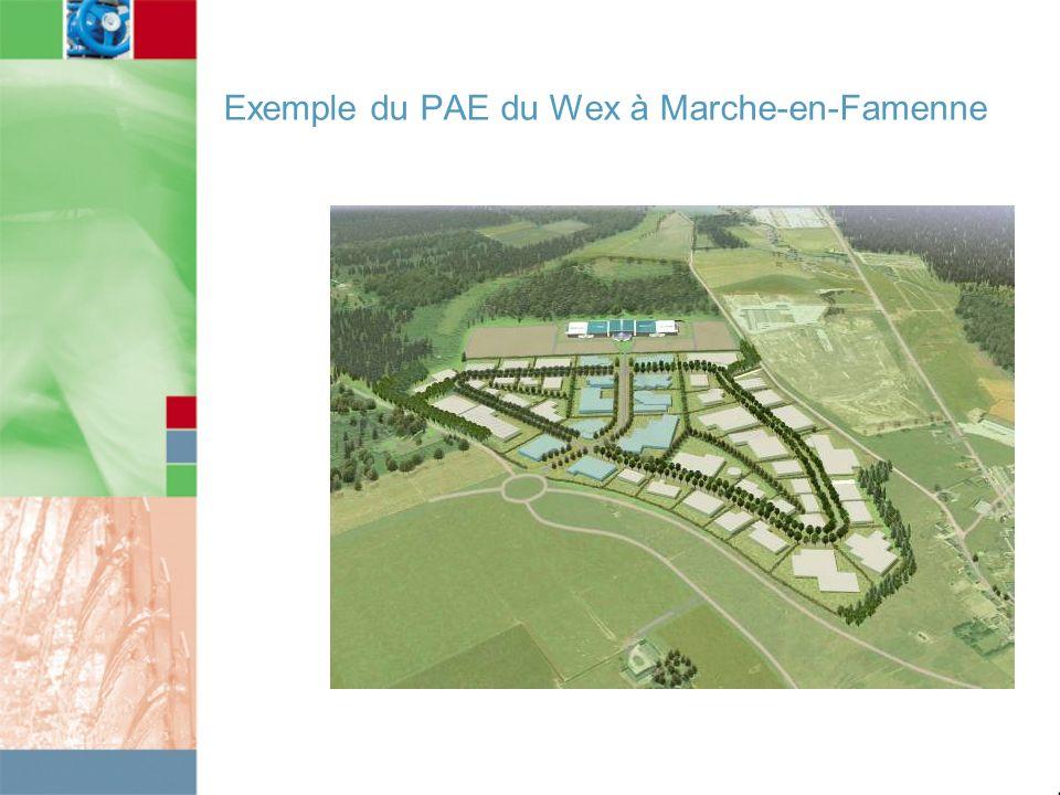 Exemple du PAE du Wex à Marche-en-Famenne