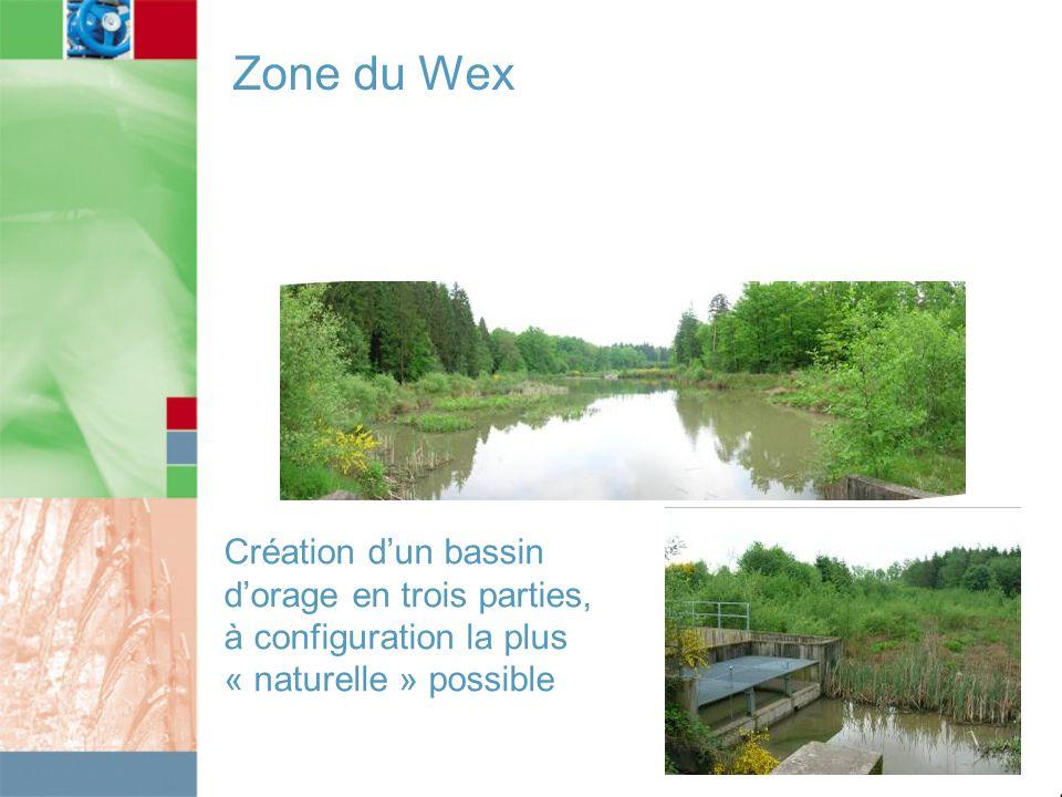 Zone du Wex Création d'un bassin d'orage en trois parties, à configuration la plus.