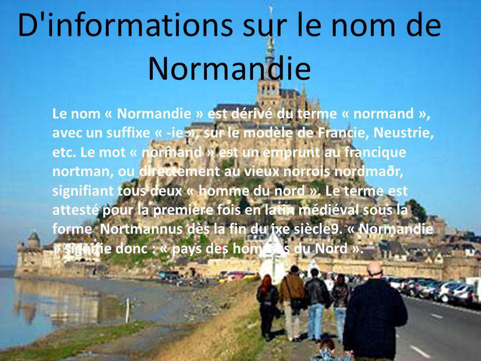 D informations sur le nom de Normandie