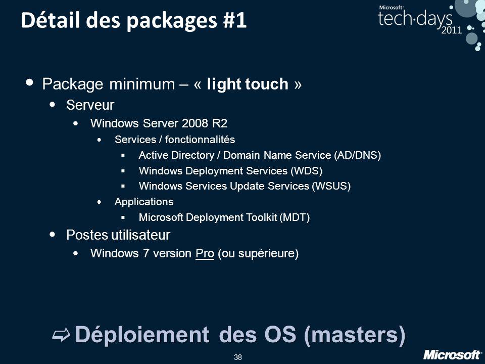Détail des packages #1 Déploiement des OS (masters)
