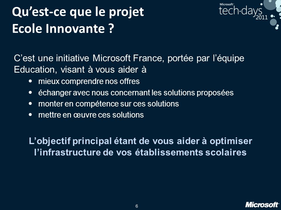 Qu'est-ce que le projet Ecole Innovante