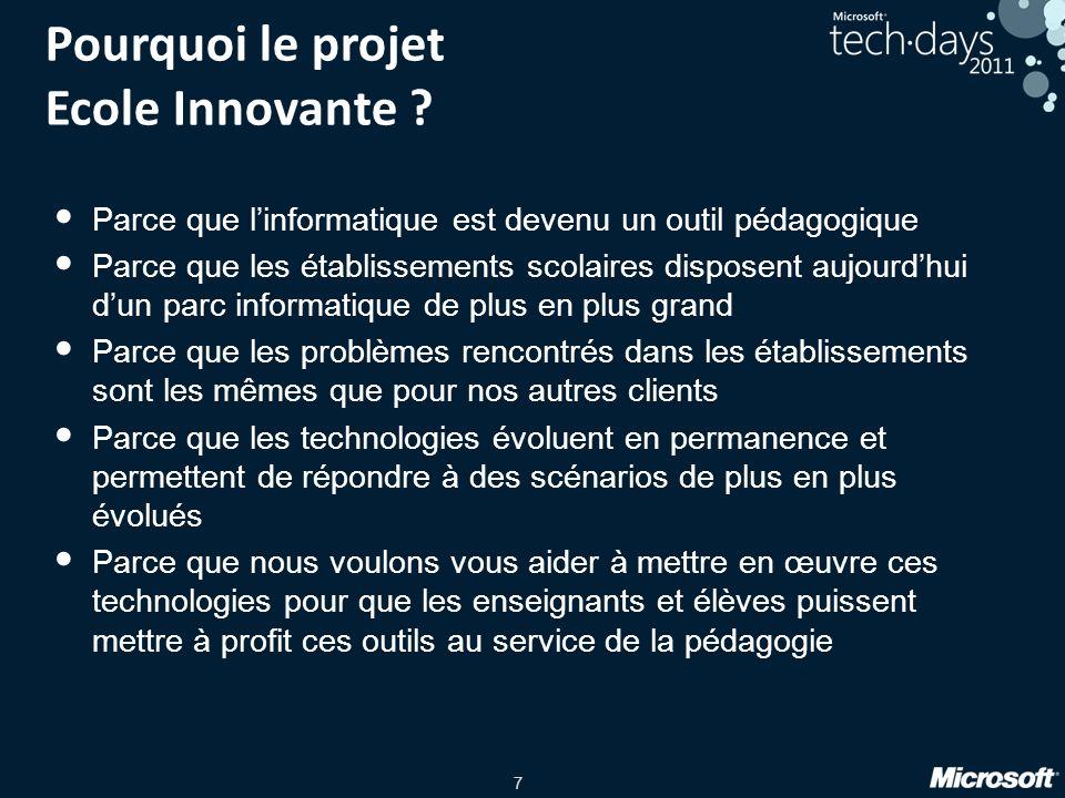 Pourquoi le projet Ecole Innovante