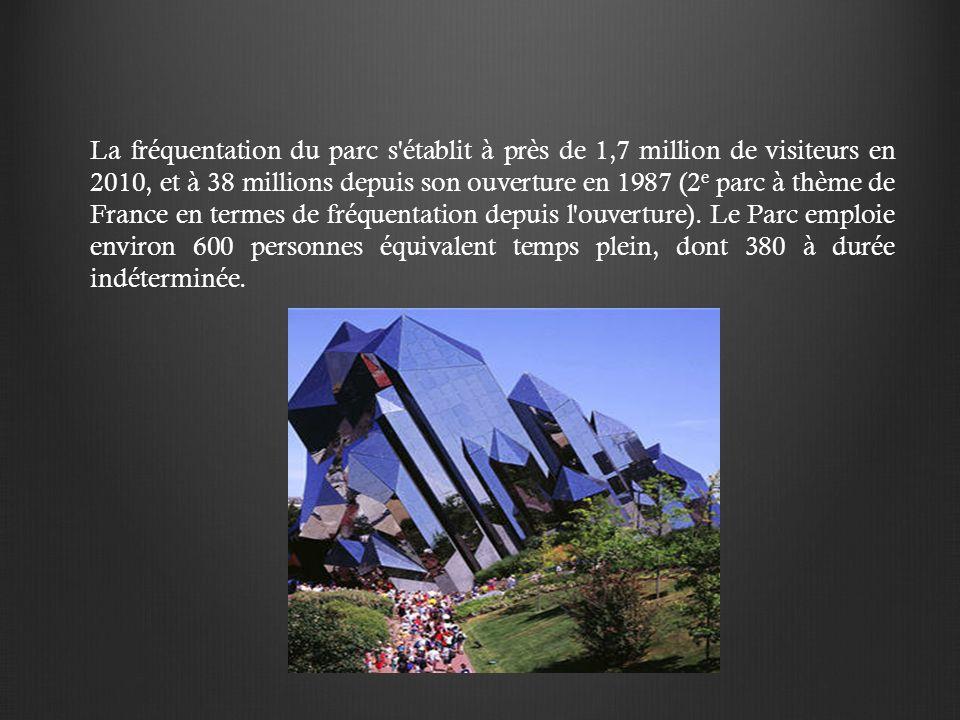 La fréquentation du parc s établit à près de 1,7 million de visiteurs en 2010, et à 38 millions depuis son ouverture en 1987 (2e parc à thème de France en termes de fréquentation depuis l ouverture).