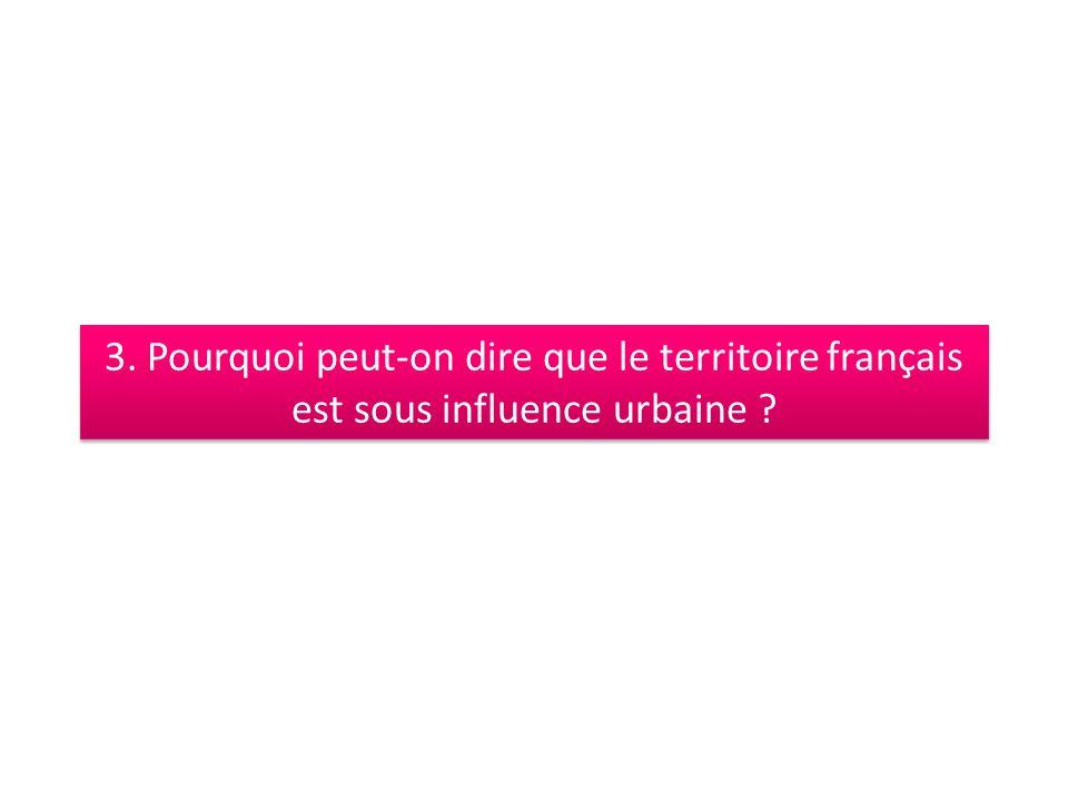 3. Pourquoi peut-on dire que le territoire français est sous influence urbaine