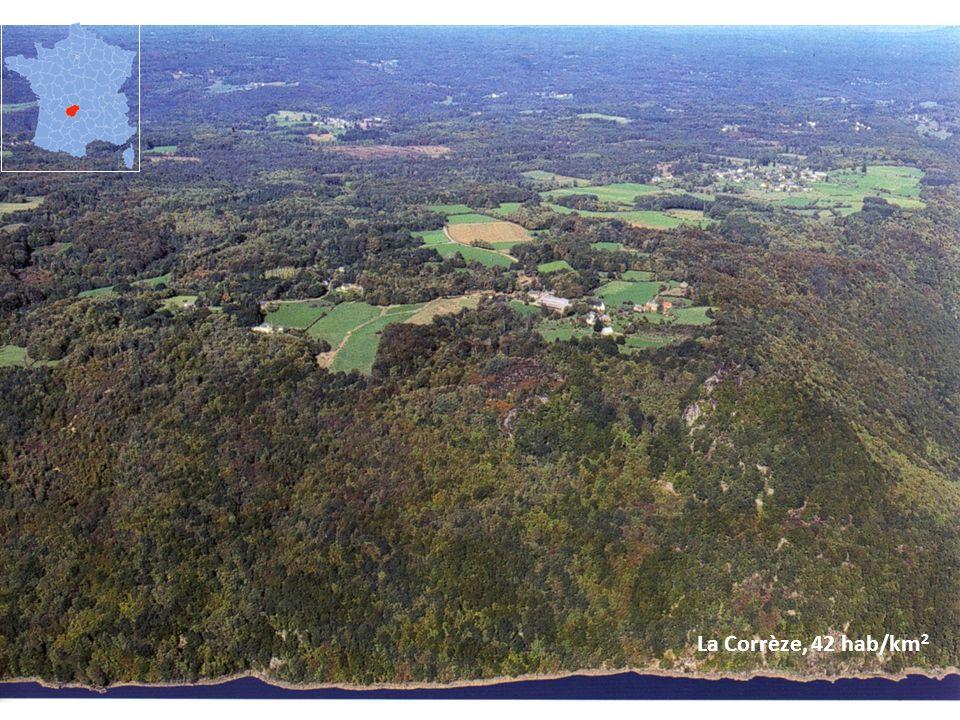 La Corrèze, 42 hab/km2