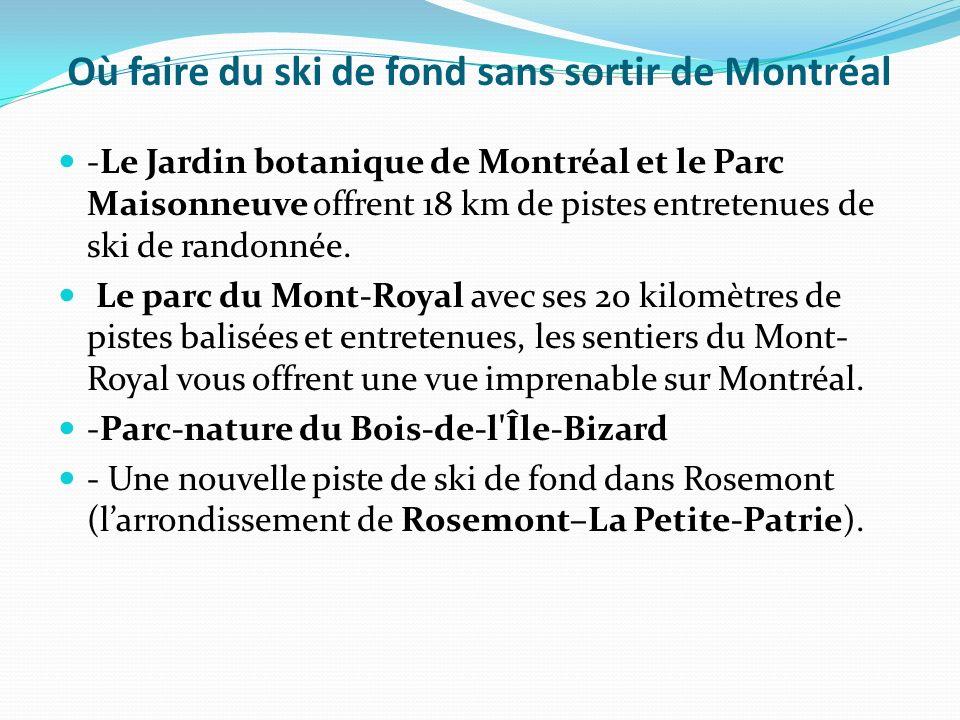 Où faire du ski de fond sans sortir de Montréal