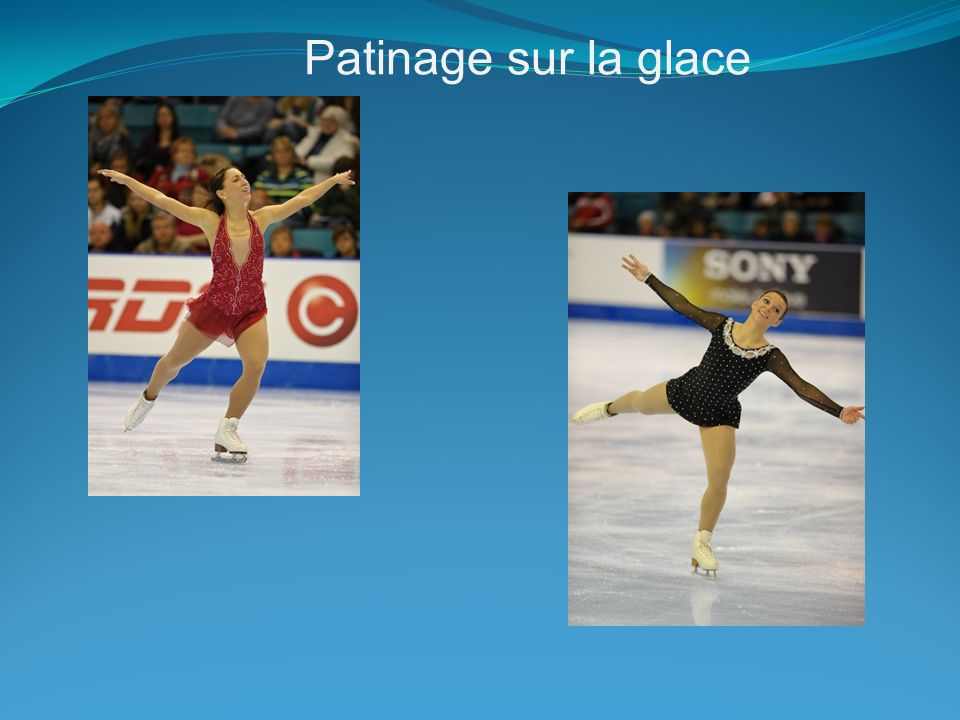 Patinage sur la glace