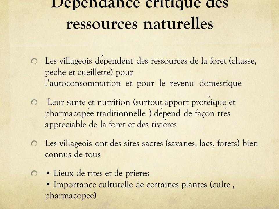 Dépendance critique des ressources naturelles