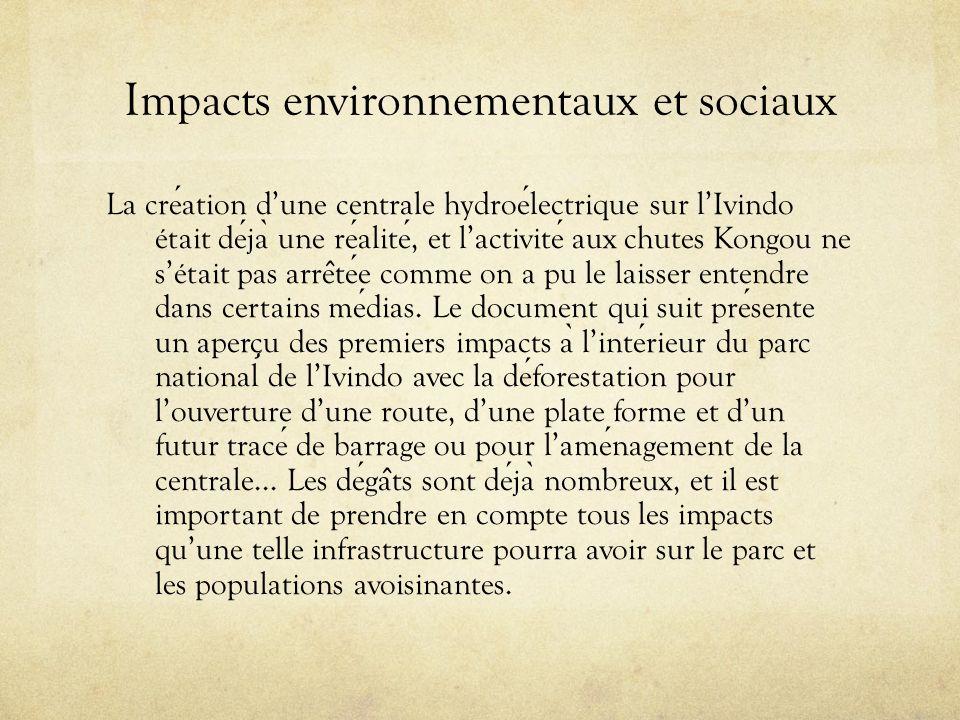 Impacts environnementaux et sociaux