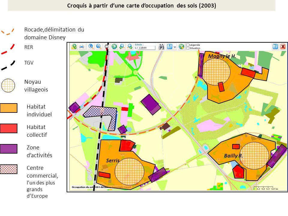 Croquis à partir d'une carte d'occupation des sols (2003)
