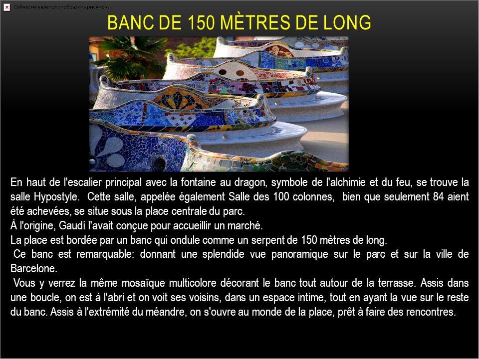 BANC DE 150 Mètres DE LONG