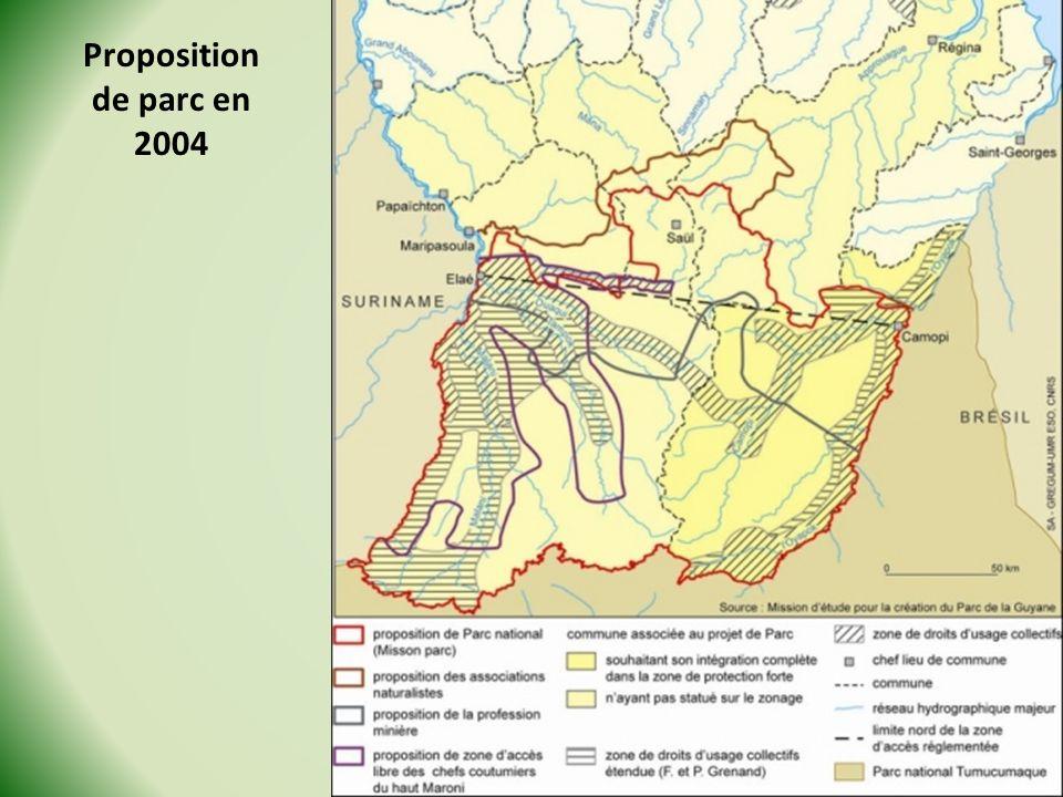 Proposition de parc en 2004