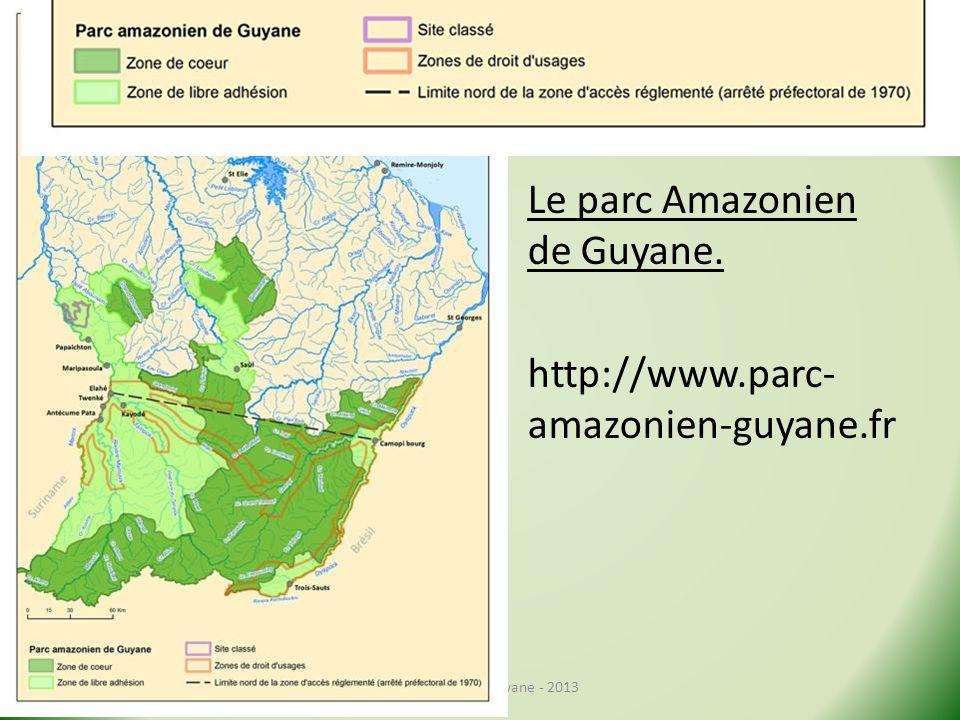Le parc Amazonien de Guyane. http://www.parc-amazonien-guyane.fr