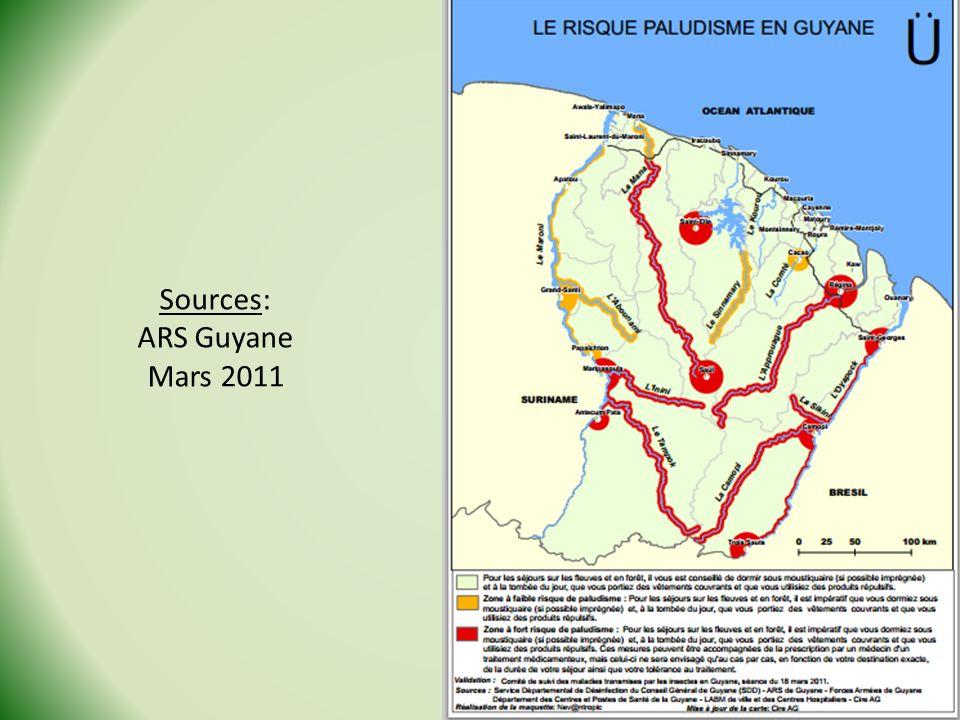 Sources: ARS Guyane Mars 2011