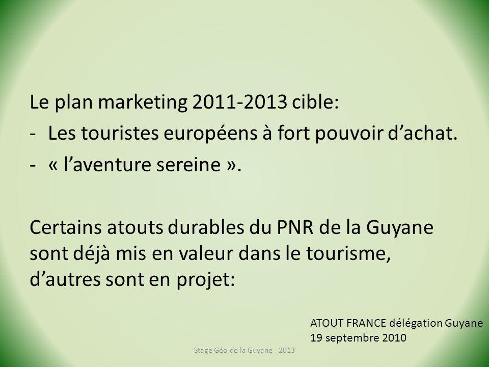 Le plan marketing 2011-2013 cible: