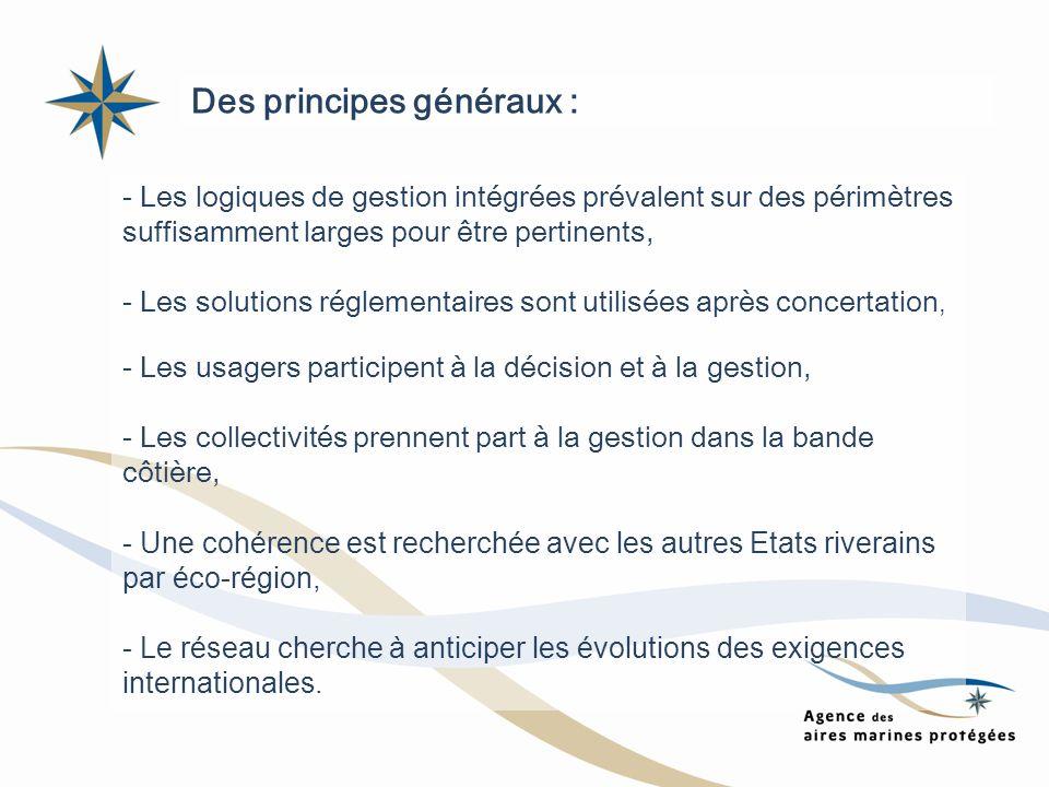 Des principes généraux :