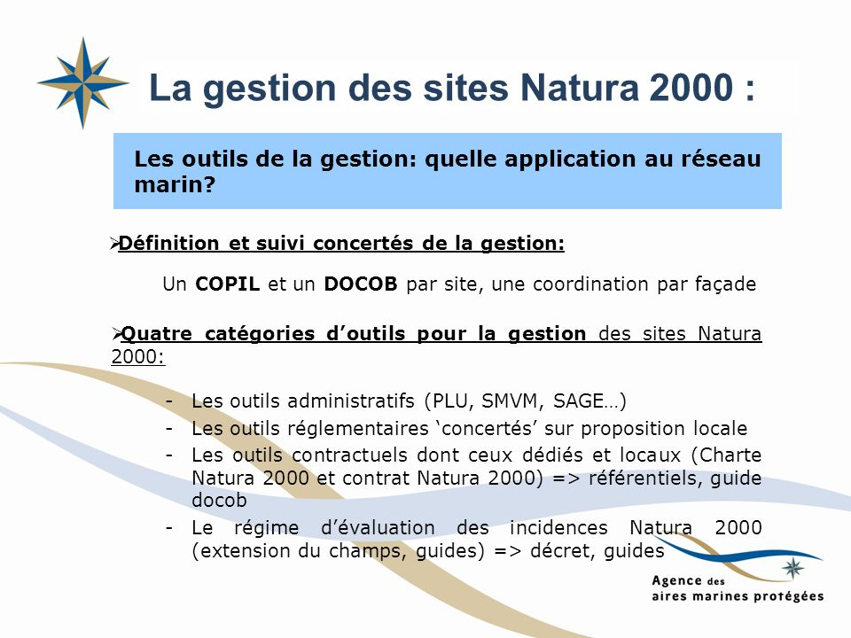 La gestion des sites Natura 2000 :