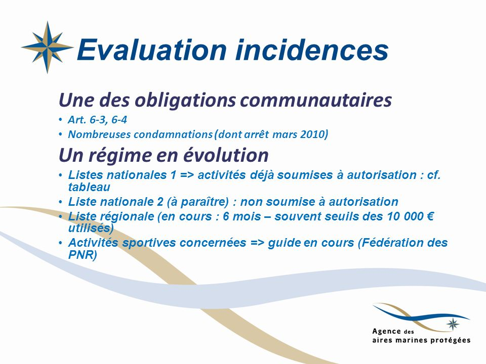 Evaluation incidences