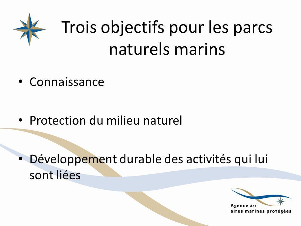 Trois objectifs pour les parcs naturels marins