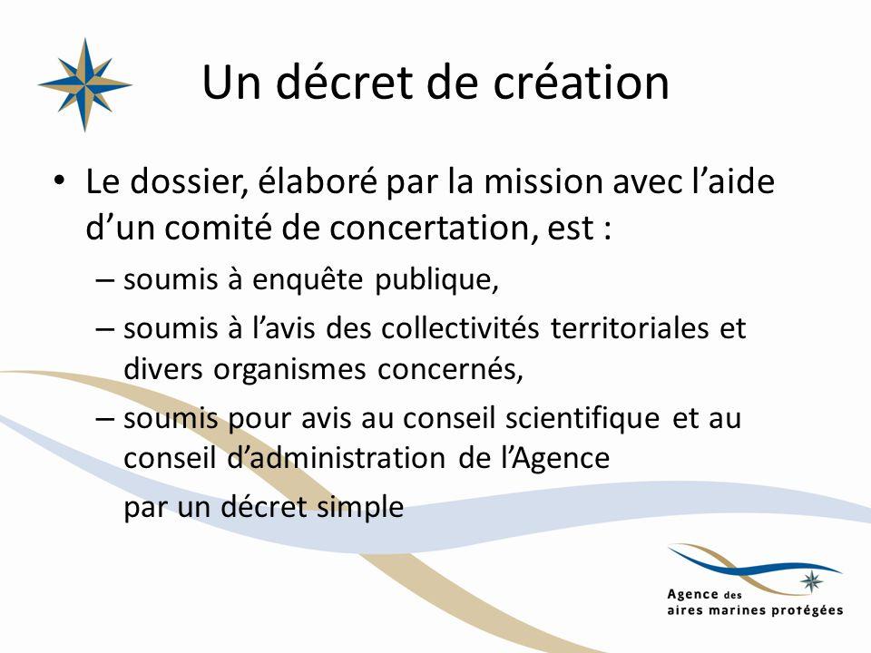 Un décret de création Le dossier, élaboré par la mission avec l'aide d'un comité de concertation, est :