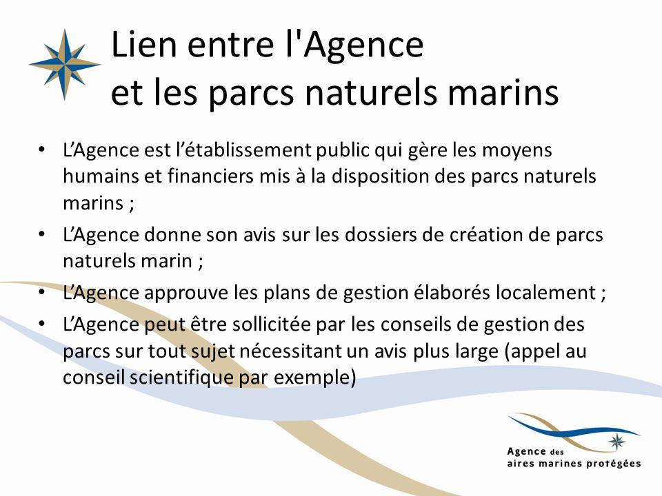 Lien entre l Agence et les parcs naturels marins