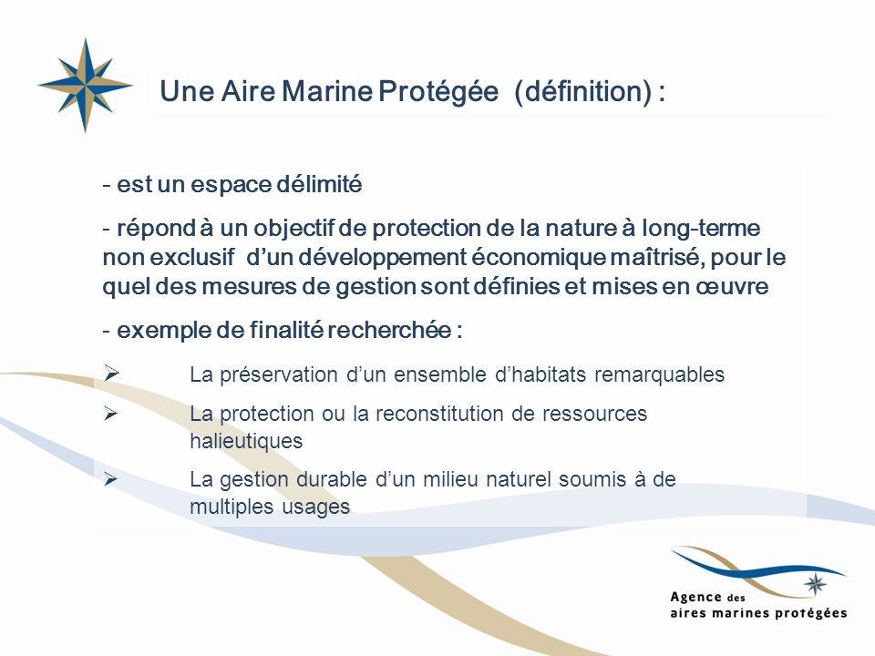 Une Aire Marine Protégée (définition) :
